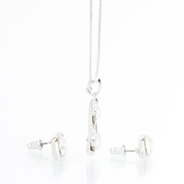 Zestaw kolczyków i naszyjnika ze Swarovski Crystals Laura Clear