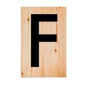 Drewniana tabliczka Letters F