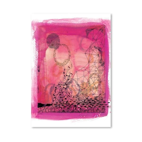 Plakat Pink Collage, 30x42 cm