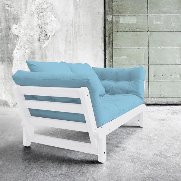 Sofa rozkładana Karup Beat White/Celeste