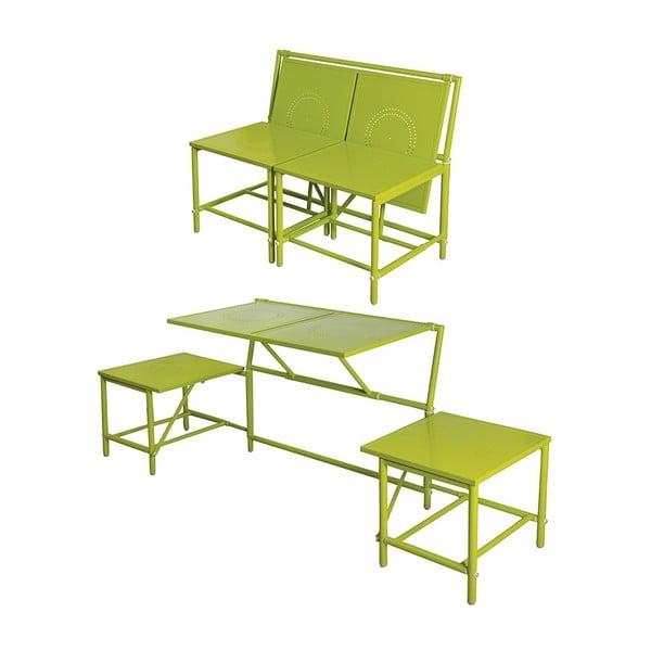 Zielony zestaw składanych mebli balkonowych Esschert Design Magic