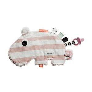 Różowa zabawka edukacyjna z bawełny Done by Deer Cozy Ozzo