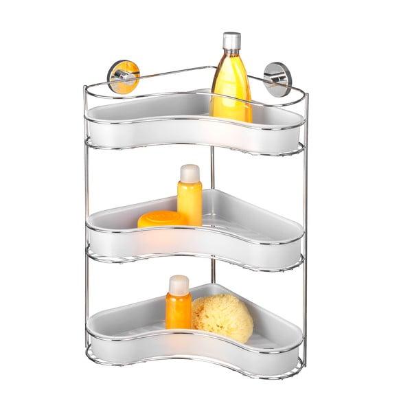 Samoprzylepna 3-poziomowa półka narożna Wenko Vacuum-Loc, do 33 kg