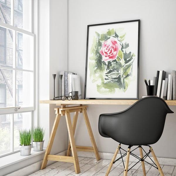 Plakat z abstrakcyjnym kwiatem, 30 x 40 cm