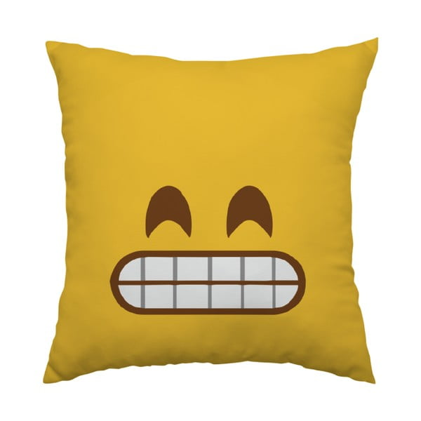 Poduszka Emoji Grrr, 40x40 cm