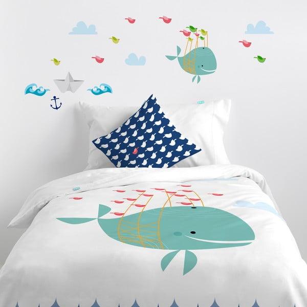 Naklejka naścienna Whale Ride, 29,7x42 cm
