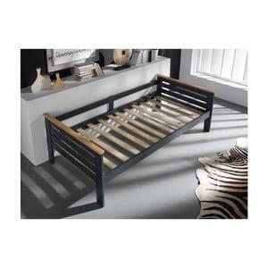 Szare łóżko SOB Jessica, 90x190cm