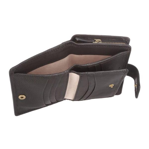 Skórzany portfel Caris Black