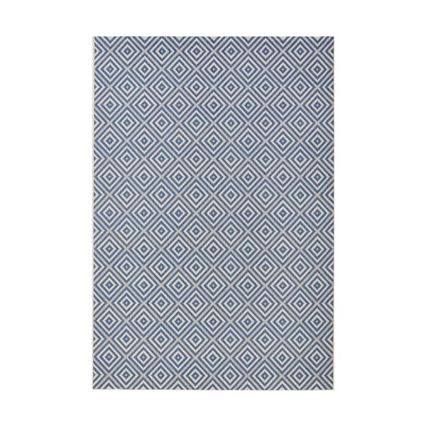 Niebieski dywan Karo, 160x230cm