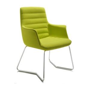 Zielone krzesło biurowe Vetta Zago