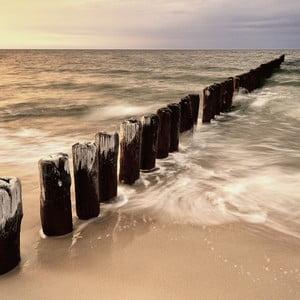Szklany obraz Sunset & Sea, 30x30 cm