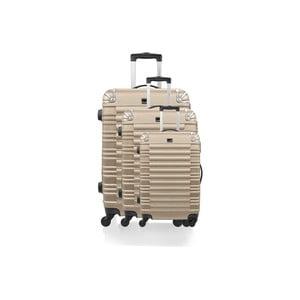 Zestaw 3 walizek Gull, złote