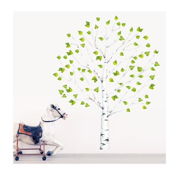 Naklejka wielokrotnego użytku Birch Tree, 150x100 cm