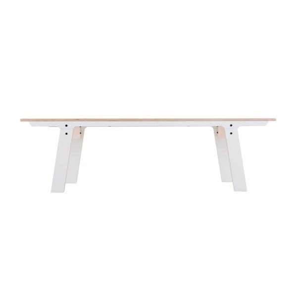 Biała ławka rform Slim 01, dł. 165 cm