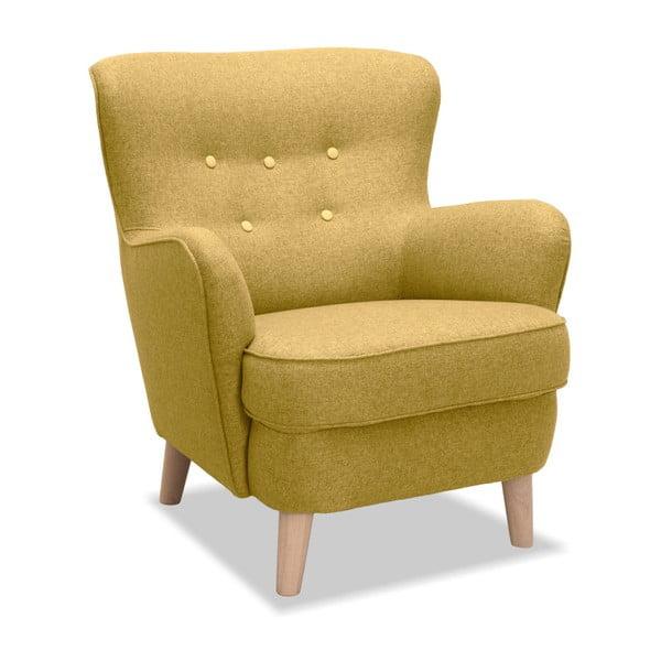 Żółty fotel Vivonita Eden