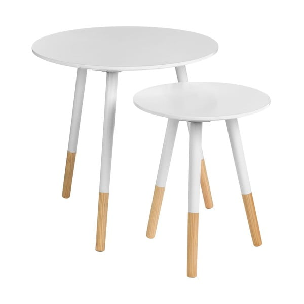 Zestaw 2 stolików Viborg White