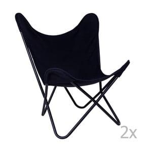 Zestaw 2 czarnych foteli House Nordic Como