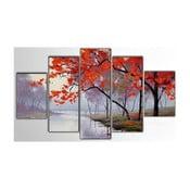 Pięcioczęściowy obraz Red Tree, 100x60 cm