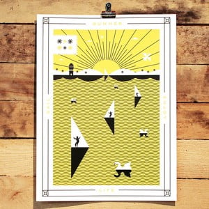 Plakat Summer, 41x30 cm