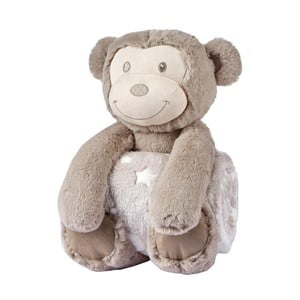 Małpka pluszowa z kocem dziecięcym Biederlack