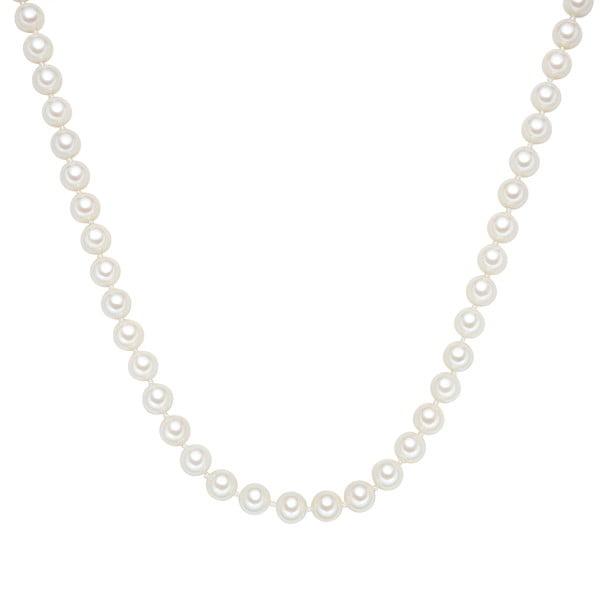 Perłowy naszyjnik Muschel, białe perły 8 mm, długość 45 cm