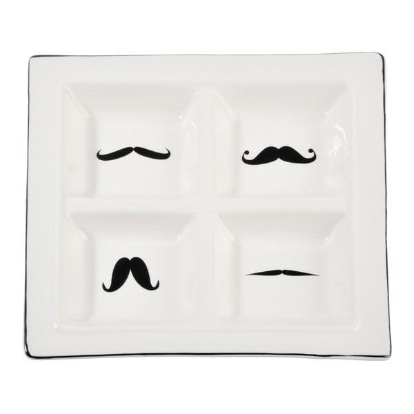Poczwórna miska Mustache, 24 x 24 cm