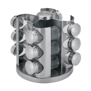Komplet 12 pojemników na przyprawy ze stojakiem Spice
