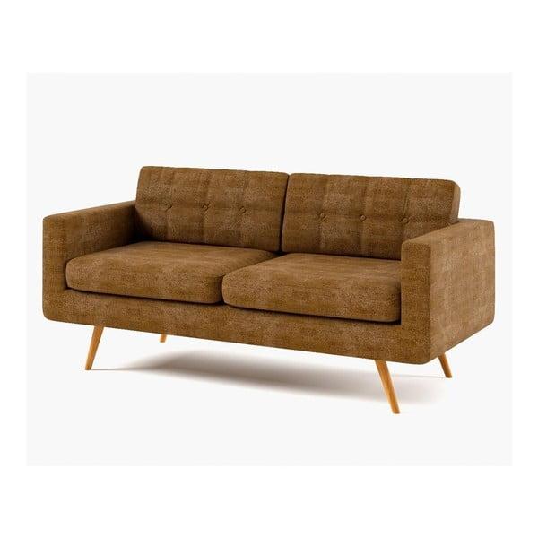 Sofa trzyosobowa York Dubai, brązowa
