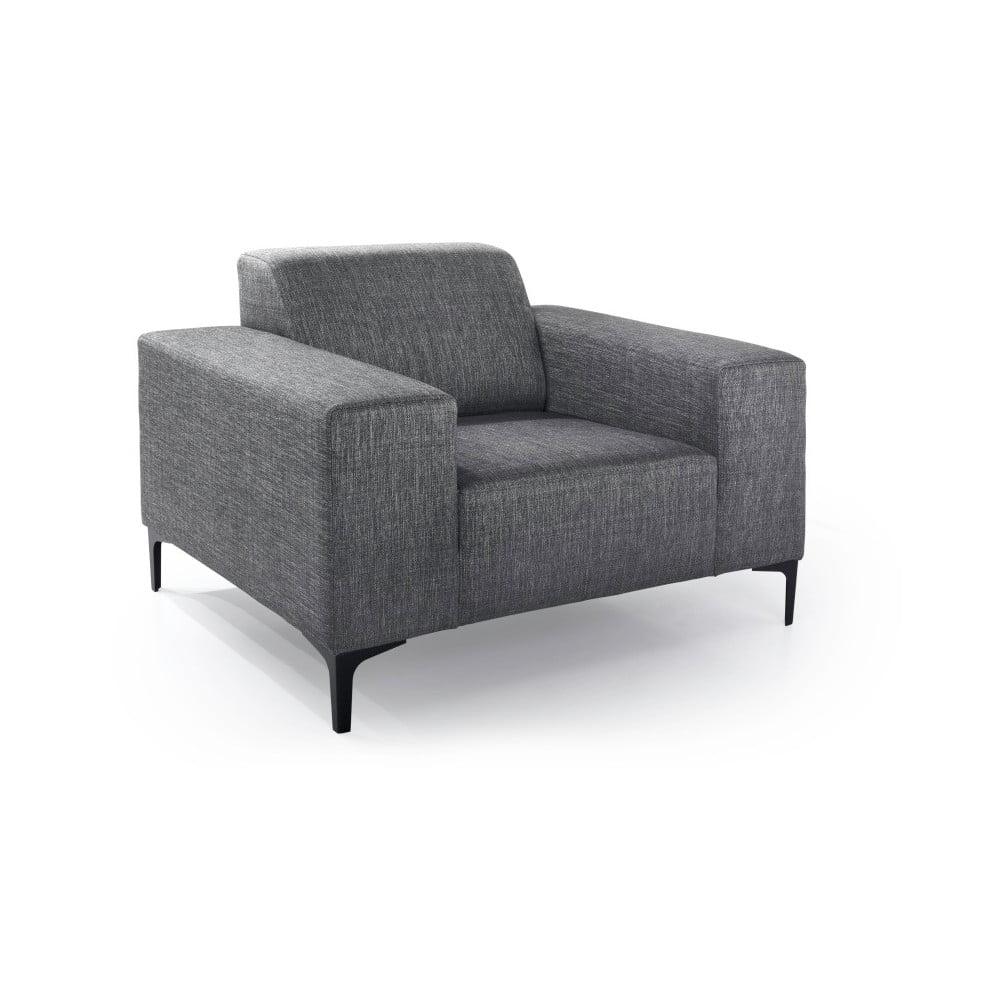 Antracytowy fotel Softnord Diva
