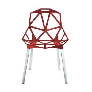Czerwone krzesło Magis One