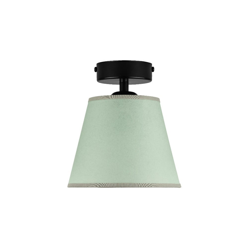 Jasnozielona lampa sufitowa Sotto Luce IRO Parchment, ⌀ 16 cm