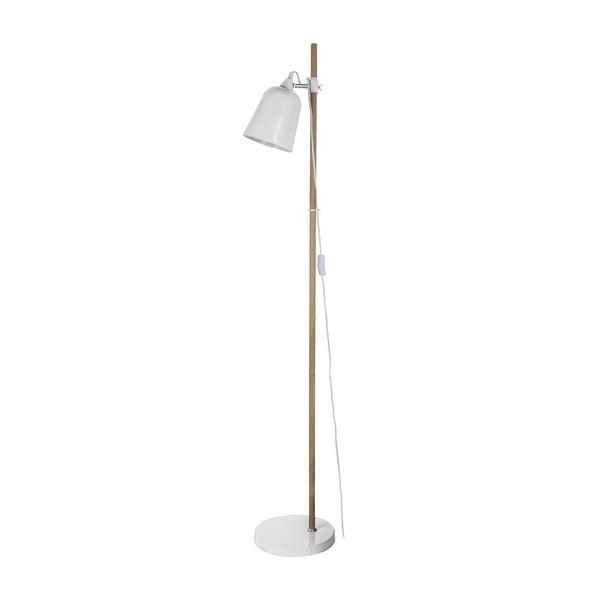 Biała lampa stojąca Present Time ETH Wood