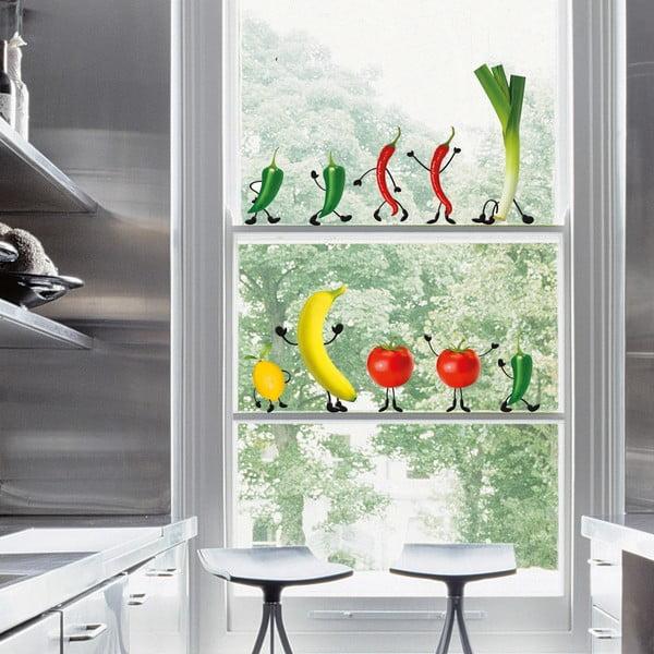 Naklejka na okno Crazy Vegetables