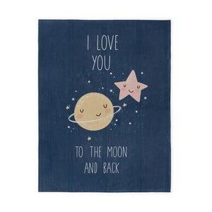 Ręcznie tkany dywan dziecięcy Naf Naf Love To The Moon, 120x160 cm