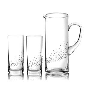Komplet karafki i 2 szklanek Verona ze Swarovski Elements w eleganckim opakowaniu