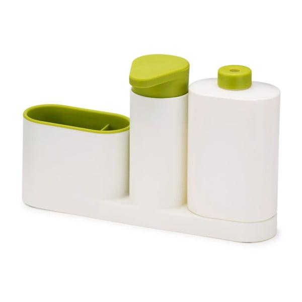 Biały stojak na środki czystości Joseph Joseph SinkBase Plus