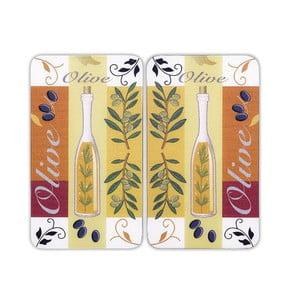 Szklana płyta ochronna Olive, 2 sztuki