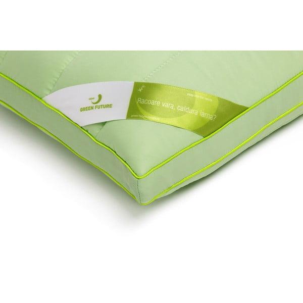 Zielona poduszka z bambusowym wypełnieniem Perna Nature Green Future, 45x65cm