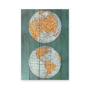 Obraz na drewnie Surdic Tabla The World, 40x60 cm