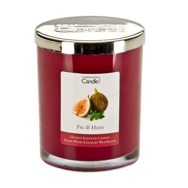 Świeczka zapachowa o zapachu fig i ziół Copenhagen Candles, czas palenia 40 godz.
