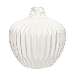 Biały wazon kamionkowy Hübsch Kjeld, wys.21cm