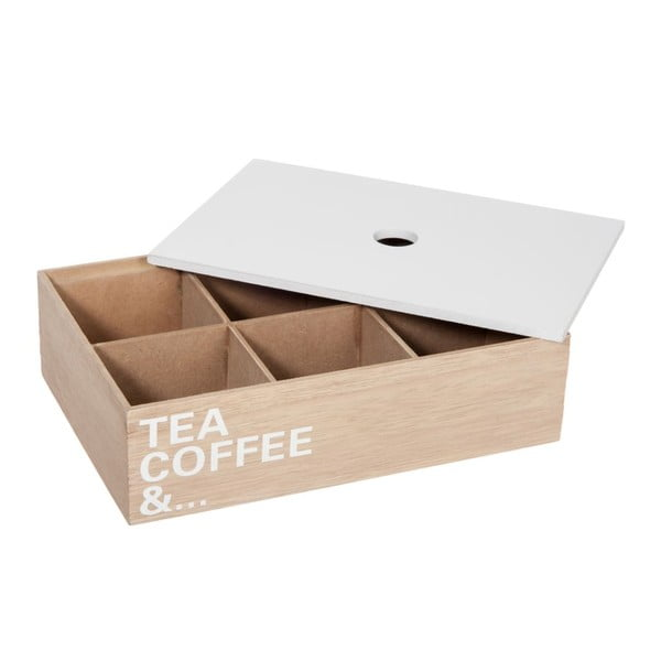 Pojemnik na herbatę Tea Coffe And..., 24x16x6 cm