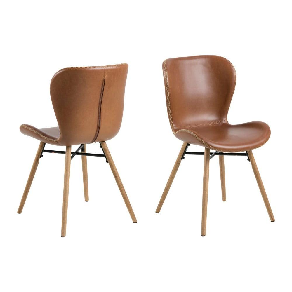 Zestaw 2 krzeseł ze skóry ekologicznej Actona Batilda