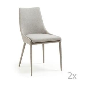 Zestaw 2 kremowych krzeseł La Forma Dant