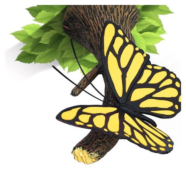 Kinkiet z naklejką Yellow Butterfly