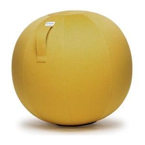 Żółta piłka do siedzenia VLUV Leiv, Ø60- 65cm
