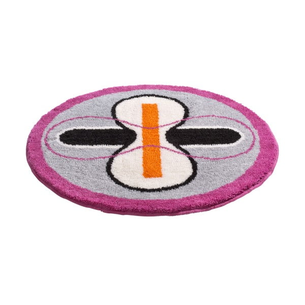 Dywanik łazienkowy Kolor My World I 80 cm, szaro-różowy