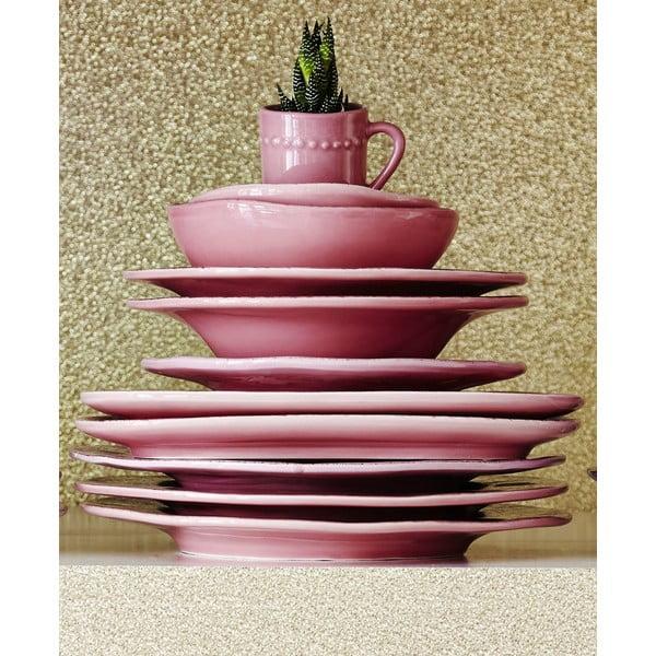 Ceramiczny talerz Oval Pink