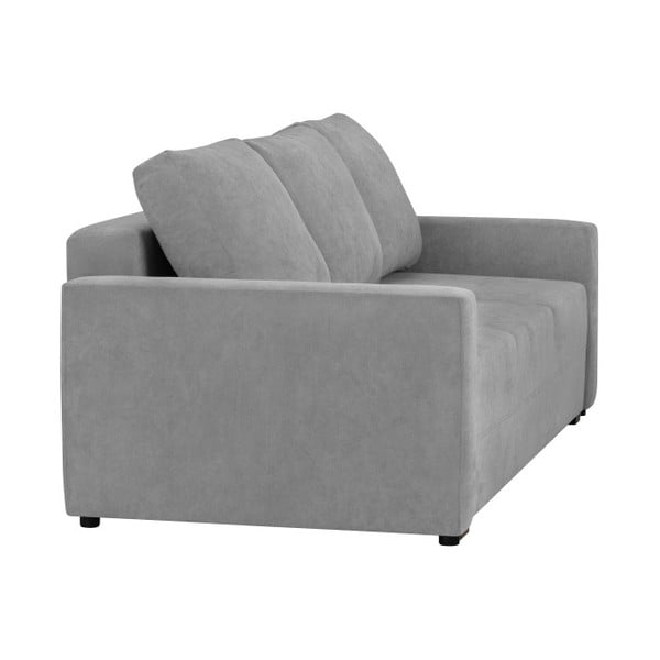 Jasnoszara 3-osobowa sofa rozkładana ze schowkiem Melart Francisco
