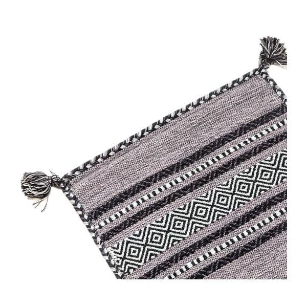 Ciemnoszary chodnik ręcznie tkany Navaei & Co Kilim Tribal 402, 180x60 cm
